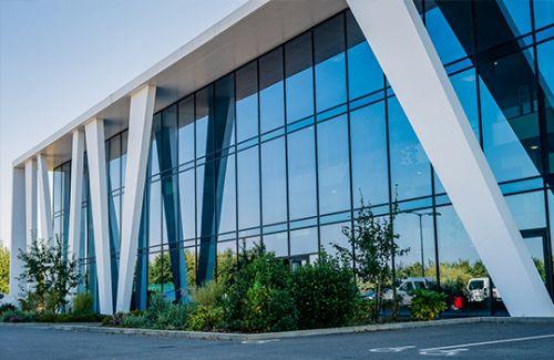 bâtiment en aluminium design