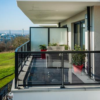 balcon en aluminium